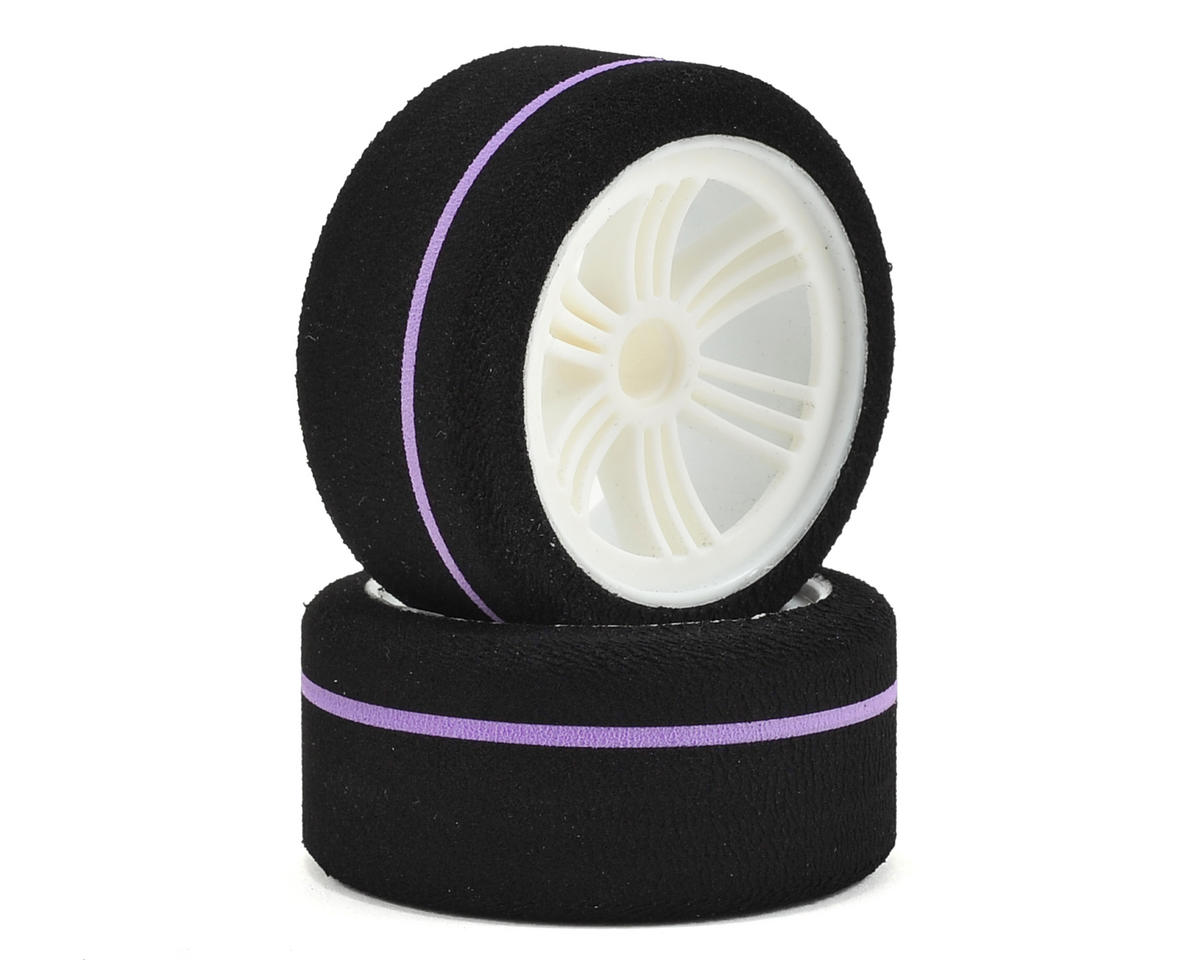 Contact World GT Spec Front Tire (2) (White) (Purple)