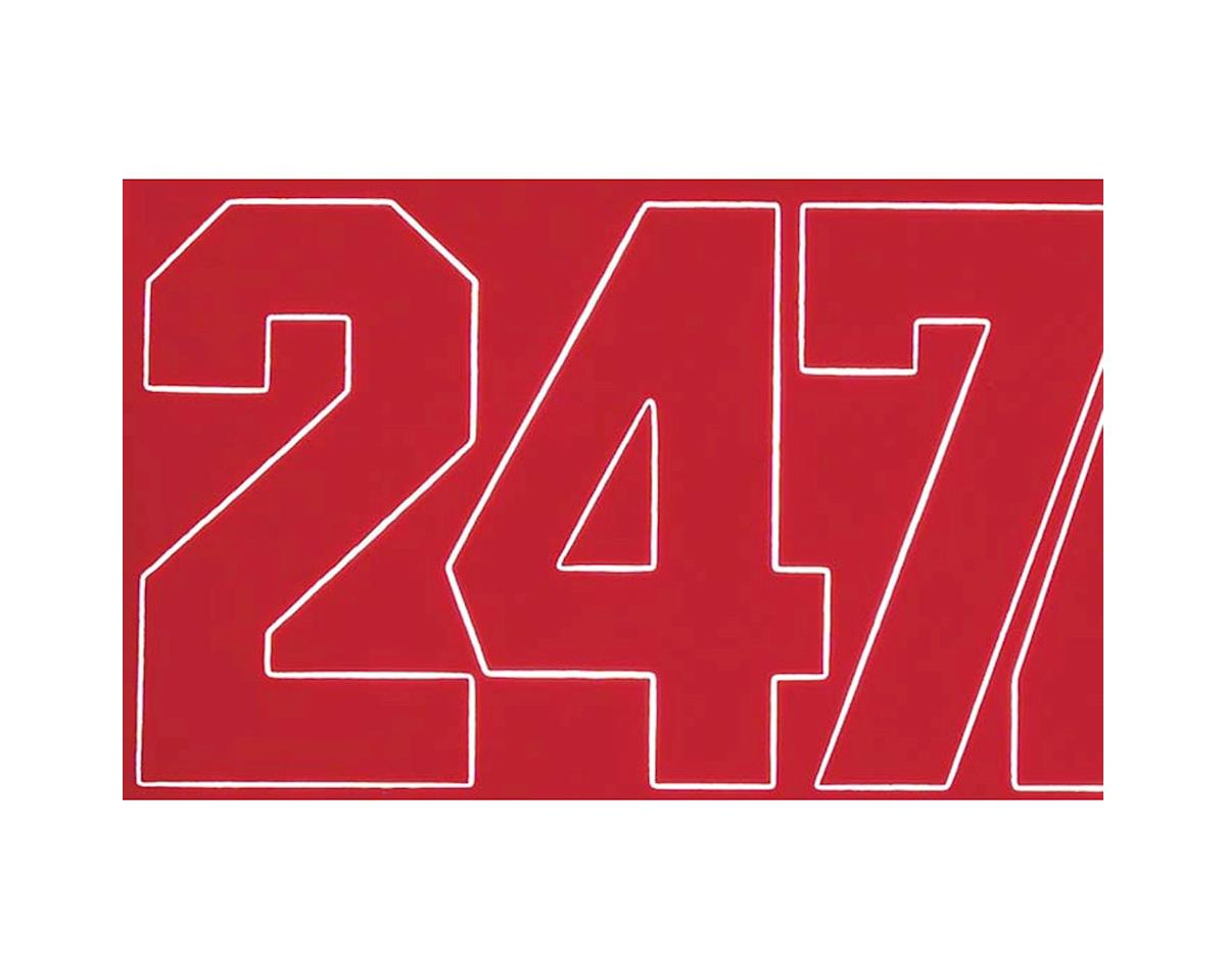 Coverite Numbers Red 1""