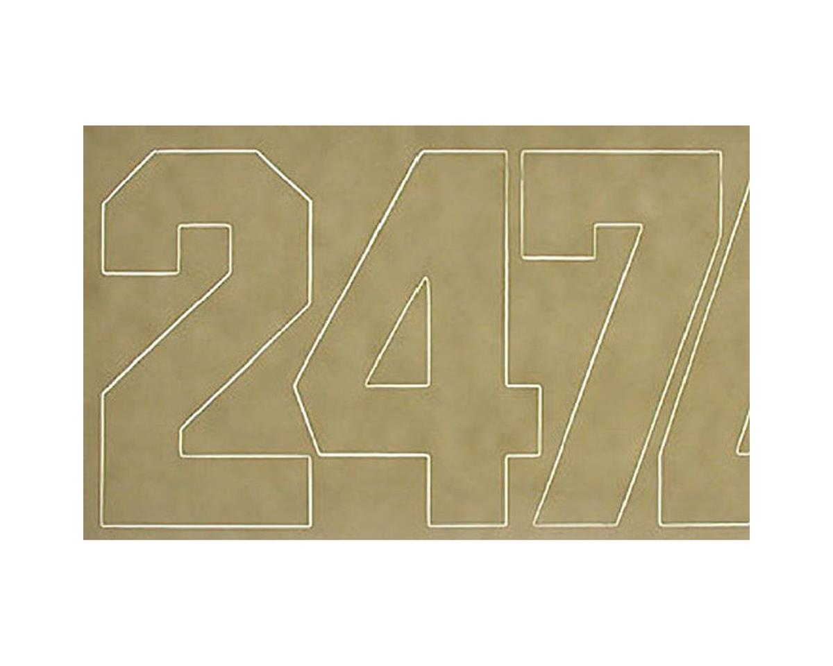 Coverite Numbers White 2