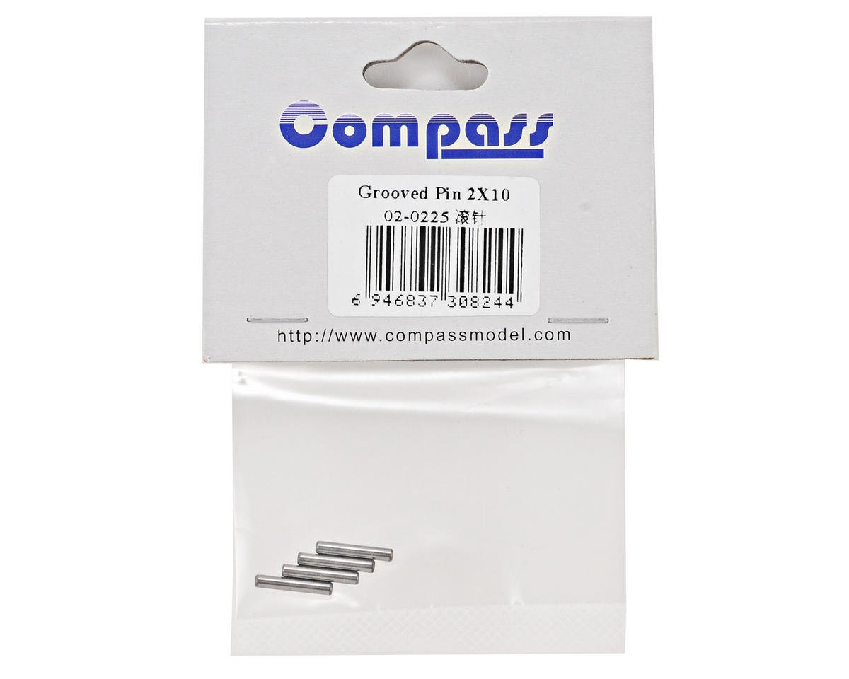 Compass Model 2x10mm Grooved Pin Set (4)