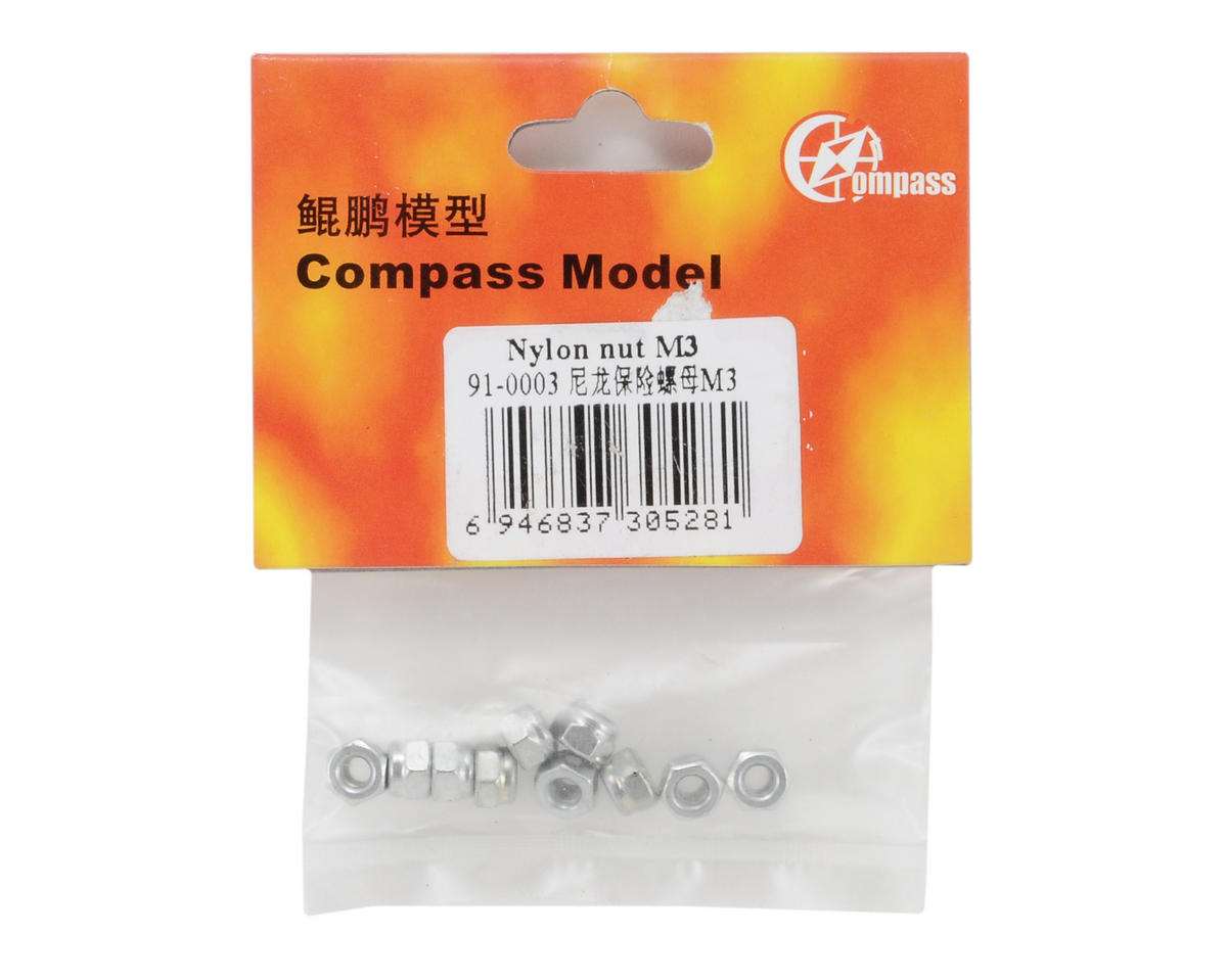 Compass Model 3mm Nylon Nut (10)
