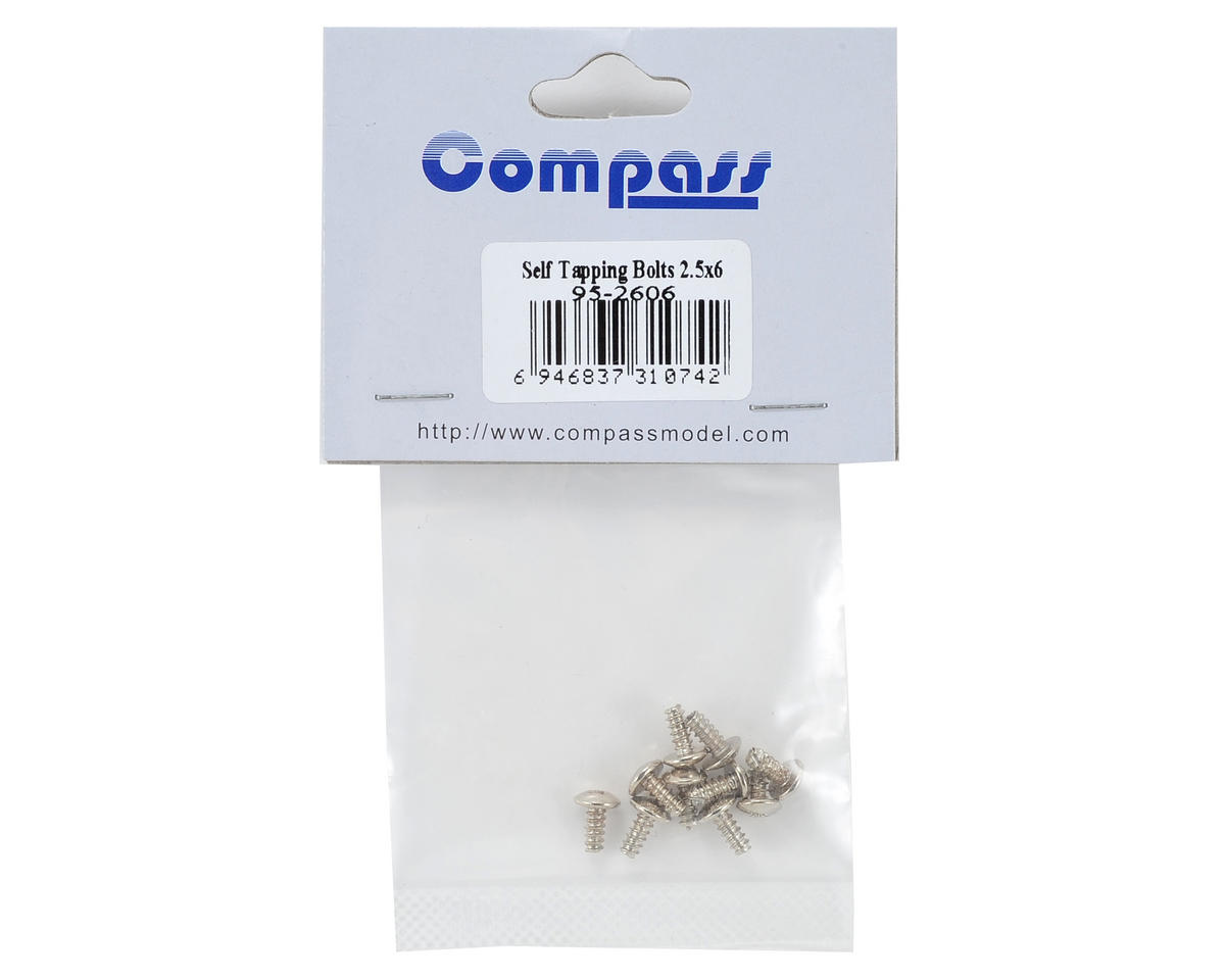 Compass Model 2.5x6mm Self Tapping Button Head Screw (10)