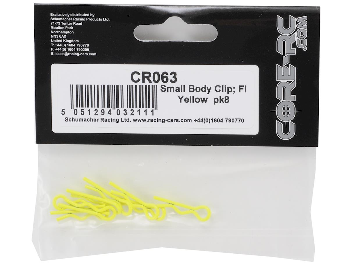 Core-RC 1/10 Scale Small Body Clip (Fluorescent Yellow) (8)