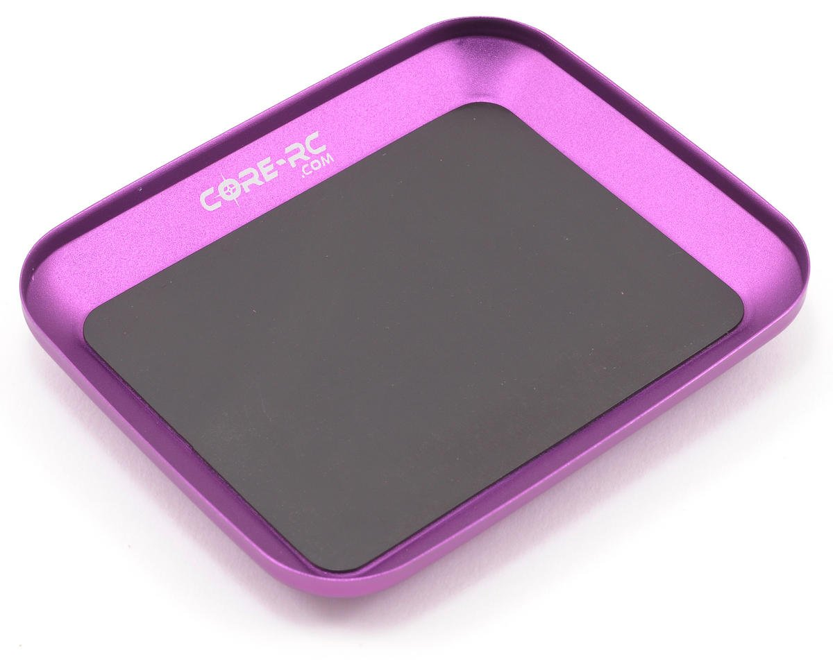 Magnetic Parts Tray (Purple) by Core-RC