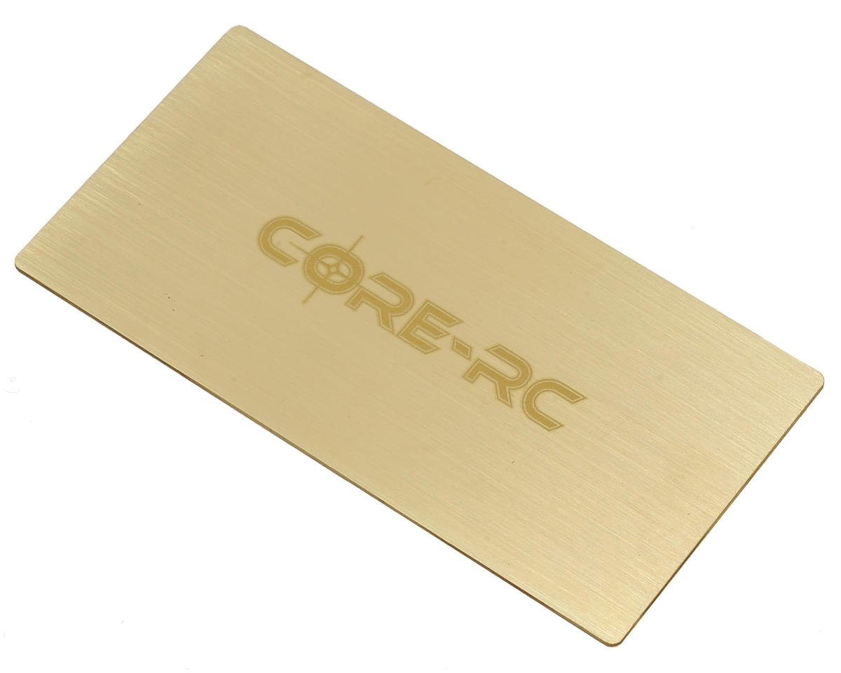 Core-RC Brass Under LiPo Plate Weight (35g)