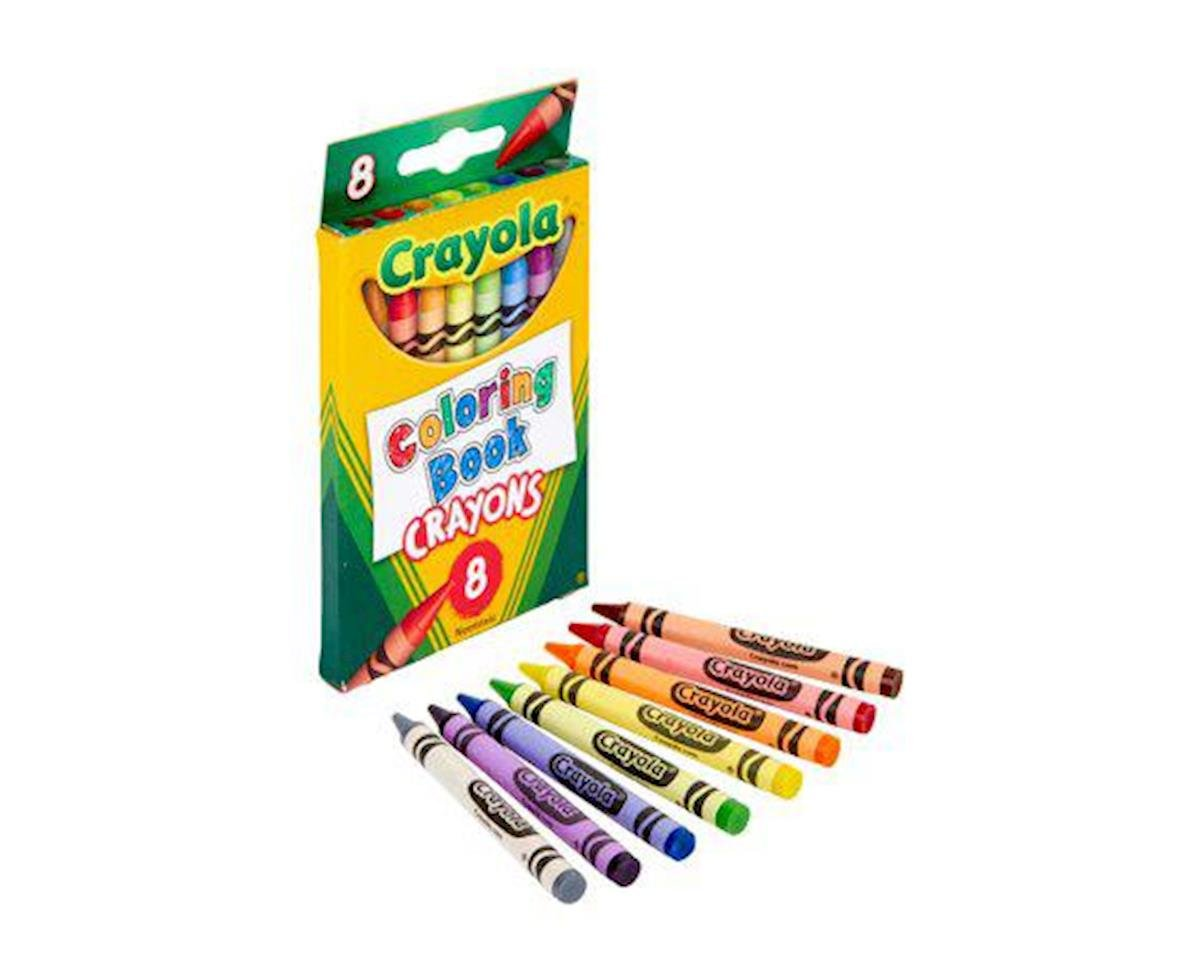 Crayola 52-0015 Coloring Book Crayons, 8/ct