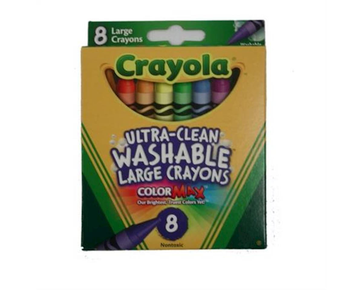 Crayola Llc Crayola Washable Crayons, Large, 8 Colors/Box (52-3280)