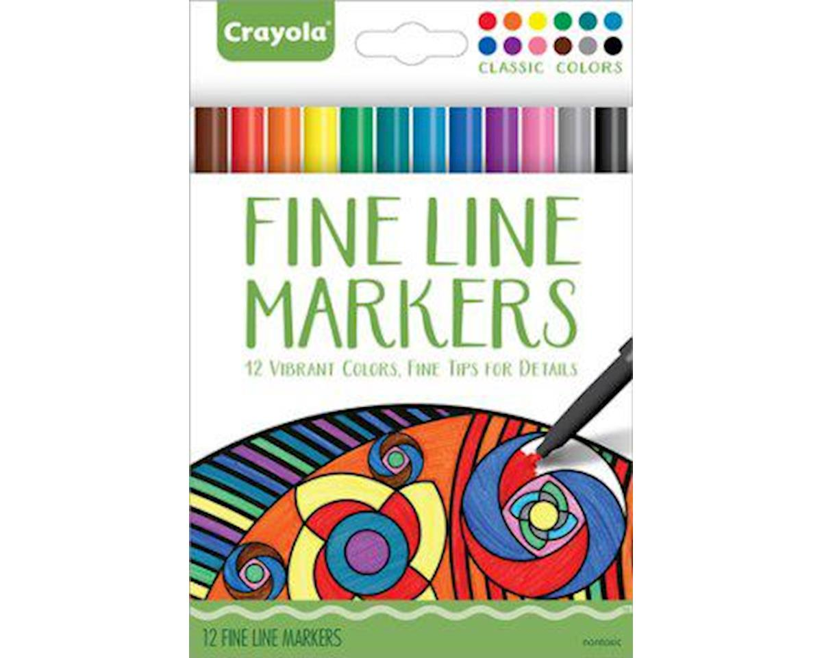 Crayola Llc Crayola 58-7713 Fineline Markers 12 Vibrant Colors with Fine Tips