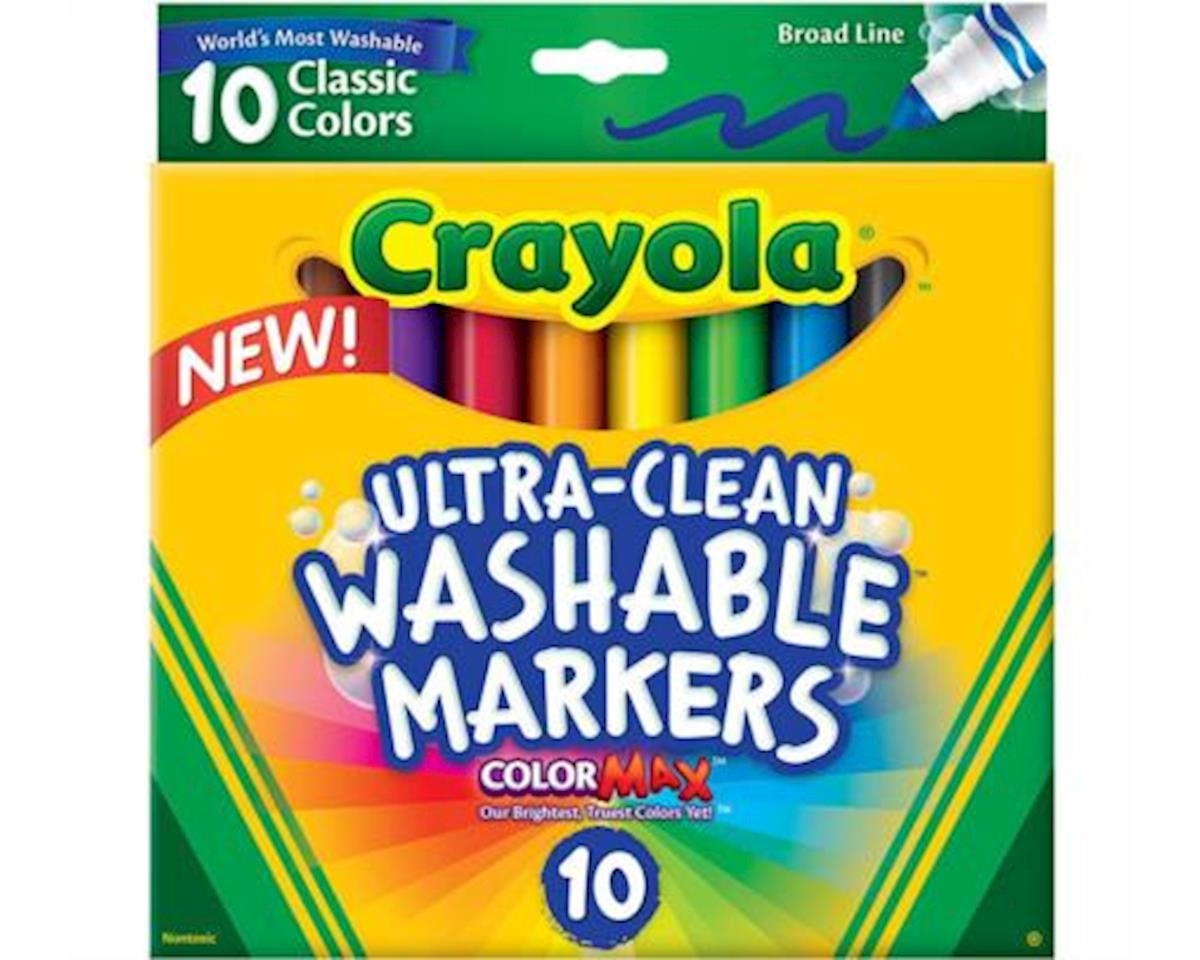 Crayola Llc Crayola Ultraclean Broadline Classic Washable Markers (10 Count)