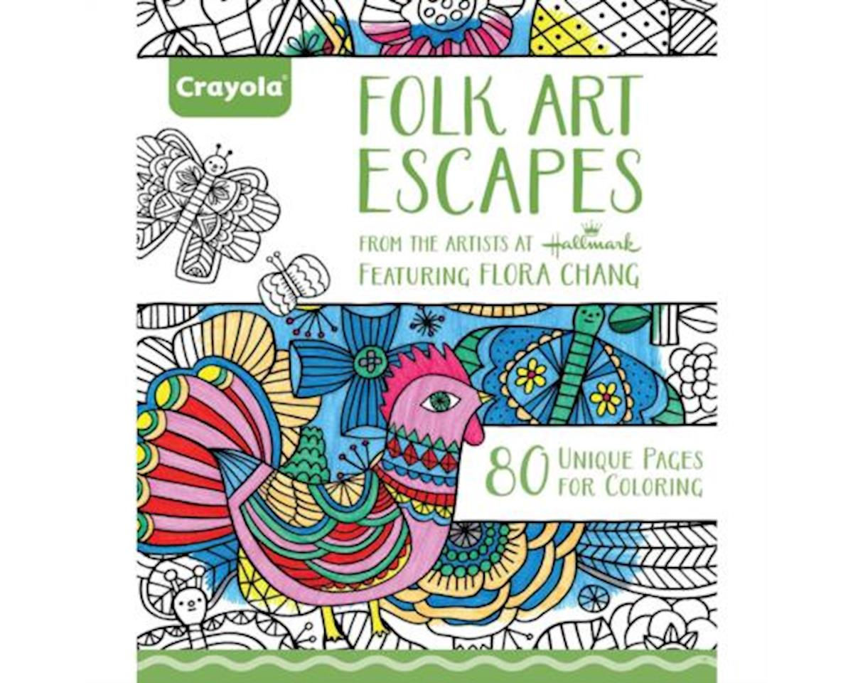 Coloring Book Folk Art Escapes
