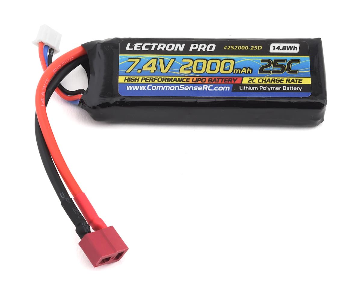 Common Sense RC Lectron Pro 2S 25C LiPo Battery w/T-Style (7.4V/2000mAh)