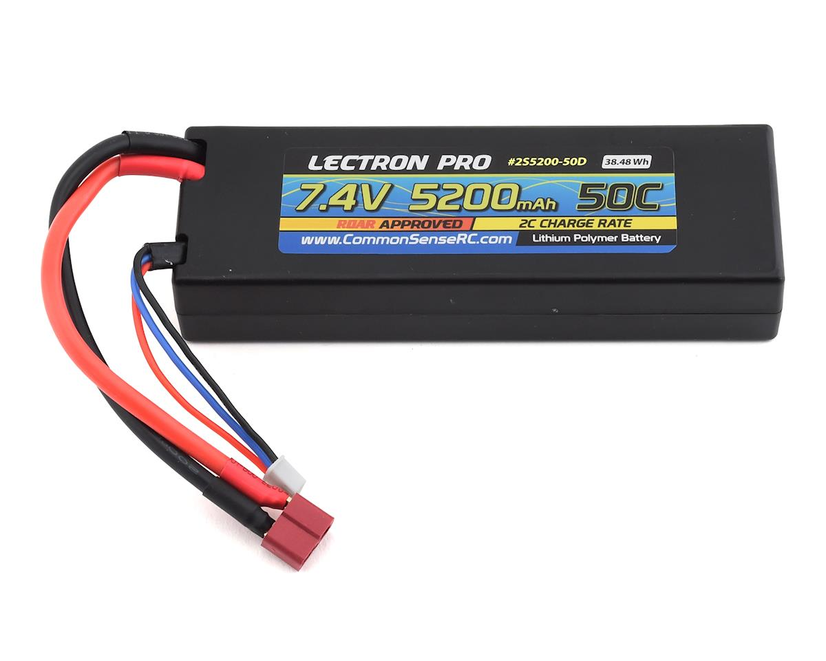 Common Sense RC Lectron Pro 2S 50C LiPo Battery w/T-Style (7.4V/5200mAh)