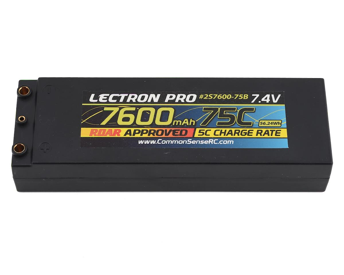 Common Sense RC Lectron Pro 2S 75C LiPo Battery w/4mm Bullets (7.4V/7600mAh)