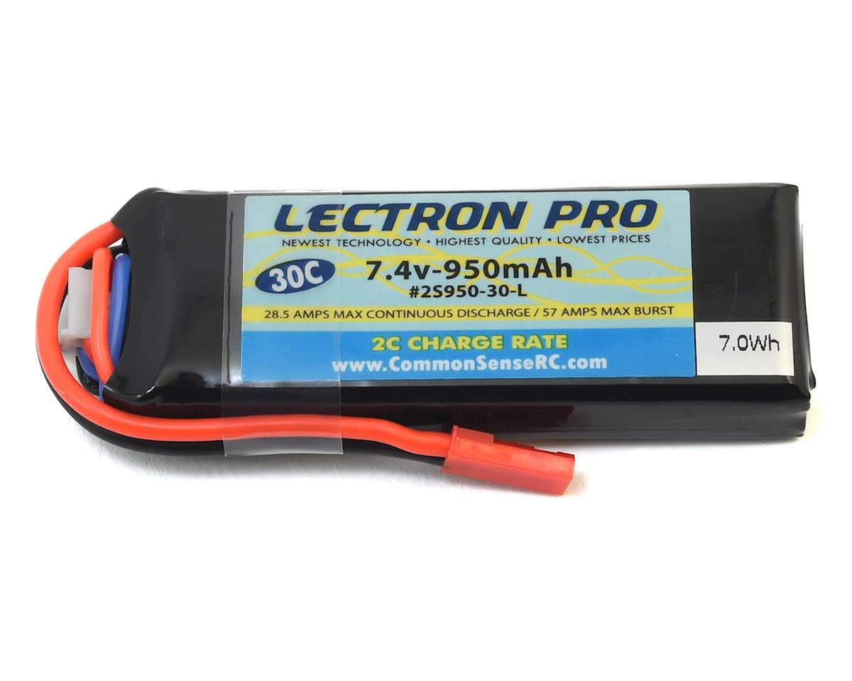 Common Sense RC Lectron Pro 2S LiPo 30C LiPo Battery w/JST (7.4V/950mAh) | relatedproducts