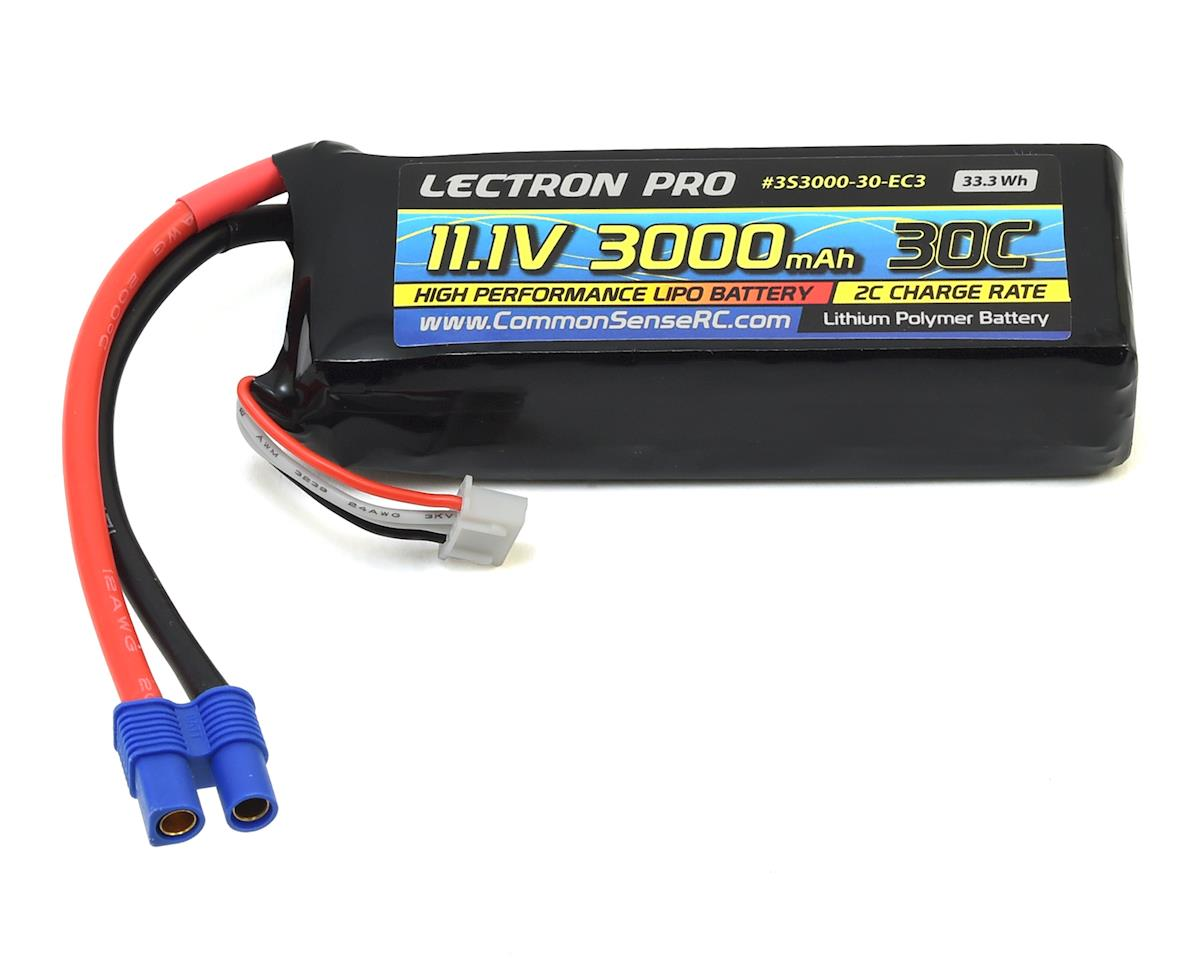 Common Sense RC Lectron Pro 3S LiPo 30C Battery (11.1V/3000mAh) (Blade 350 QX3)
