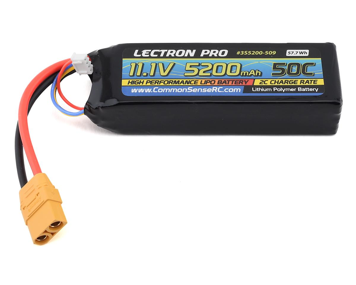 Common Sense RC Lectron Pro 3S 50C LiPo Battery w/XT90 (11.1V/5200mAh)