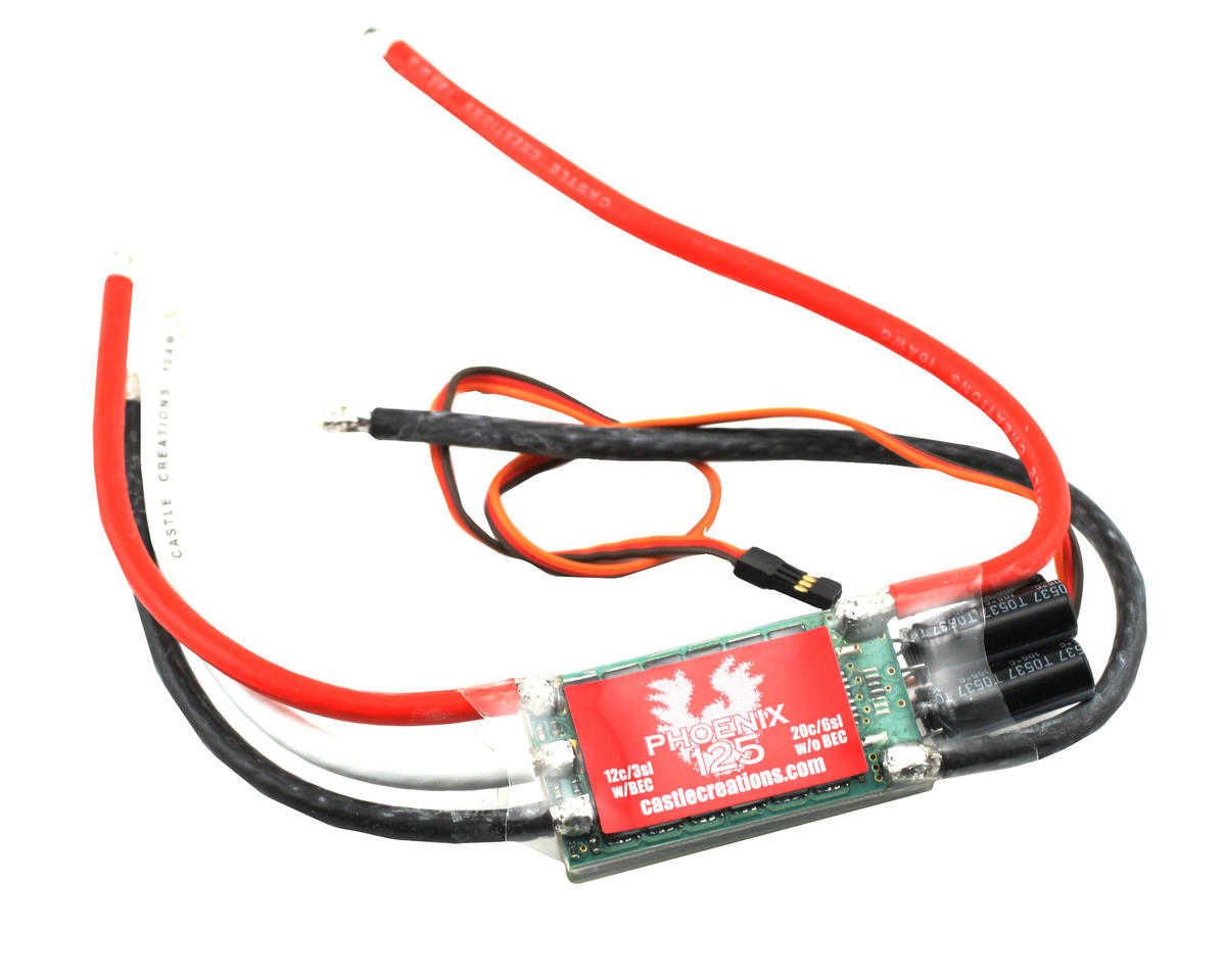 Castle Creations Phoenix 125 Brushless Electronic Speed Control Regulator To Provide The Bec Battery Eliminator Circuit Function Cse010 0033 00 Helicopters Amain Hobbies