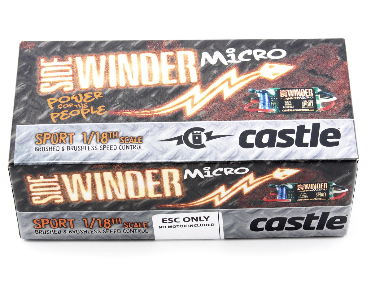Castle Creations Sidewinder Micro 1/18th Scale Sport Brushless ESC