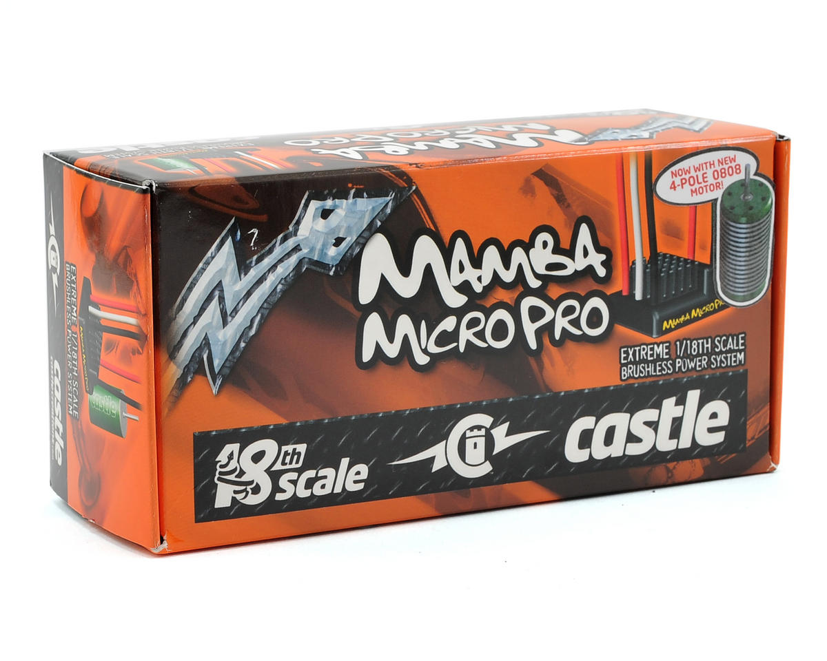 Castle Creations Mamba Micro Pro 1/18th Scale Brushless Combo w/0808 4-Pole (5300KV)