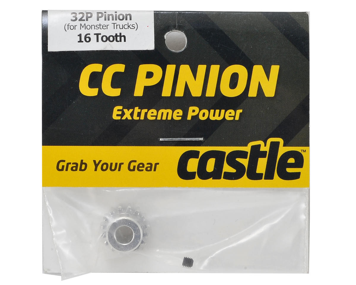 32P Pinion Gear w/5mm Bore (16T) by Castle Creations