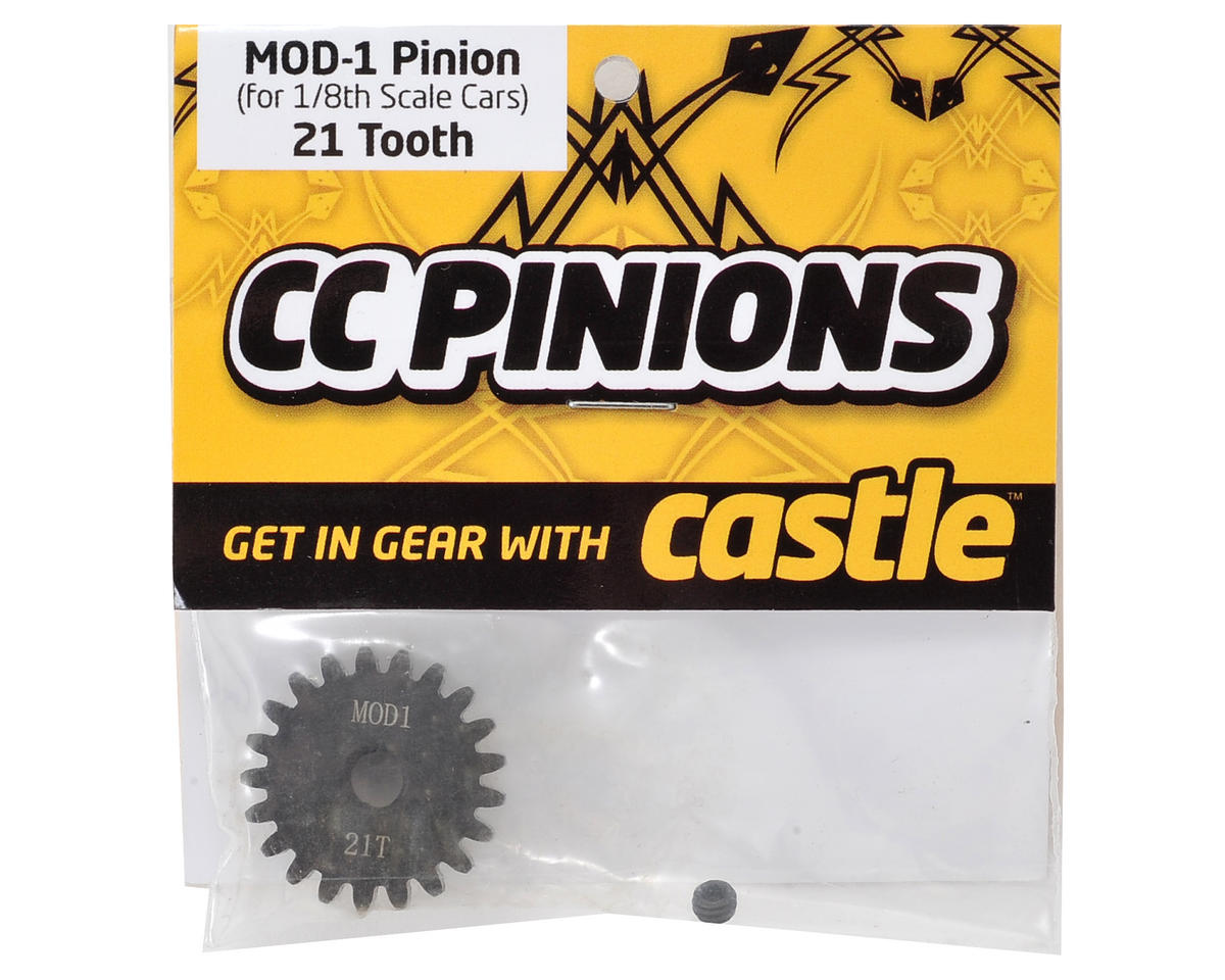 Mod 1 Pinion Gear w/5mm Bore (21T) by Castle Creations