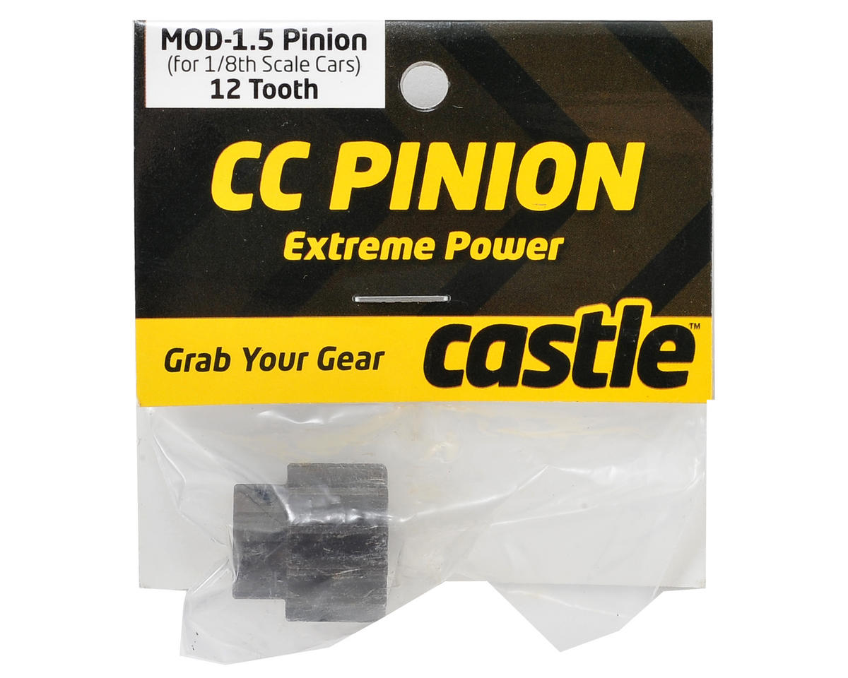 Mod 1.5 Pinion Gear w/8mm Bore (12T) by Castle Creations