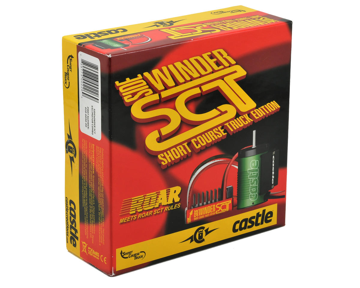 Castle Creations Sidewinder 1/10 Scale Short Course Brushless Combo w/Neu-Castle 1410 (3800kV)
