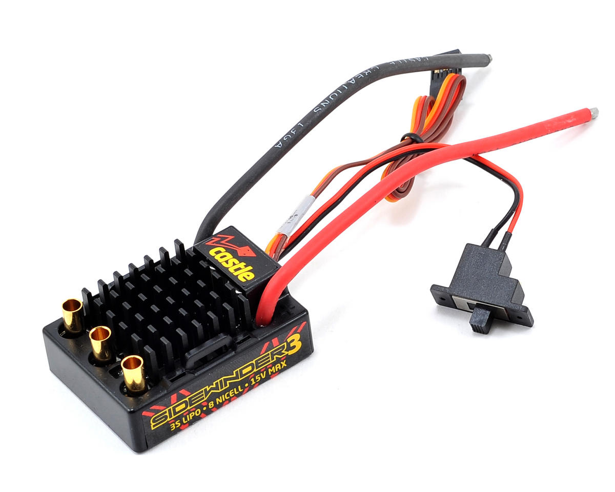 Castle Creations Sidewinder 3 Waterproof 1/10 Sport ESC | relatedproducts