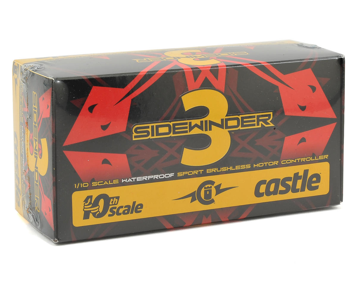 Sidewinder 3 Waterproof 1/10 Sport ESC by Castle Creations