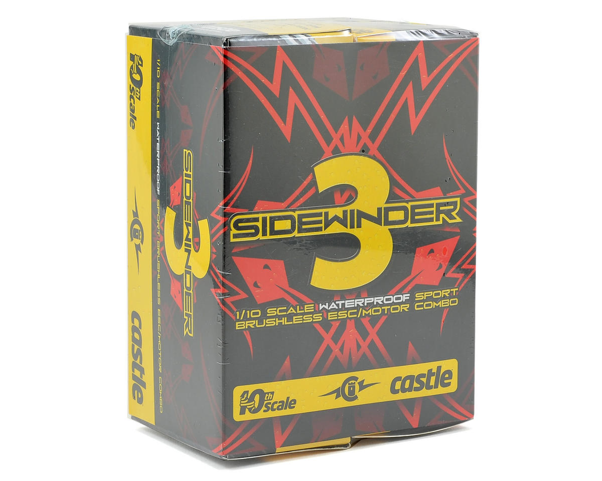 Castle Creations Sidewinder 3 Waterproof 1/10 Sport ESC/Motor Combo (7700kV)