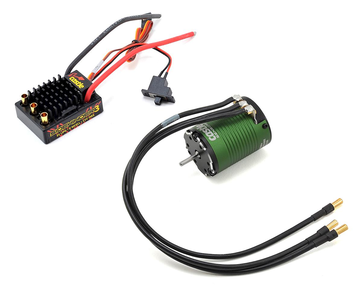 Sidewinder SV3 WP 1/10 ESC/Brushless Motor Combo (4600kV) by Castle Creations