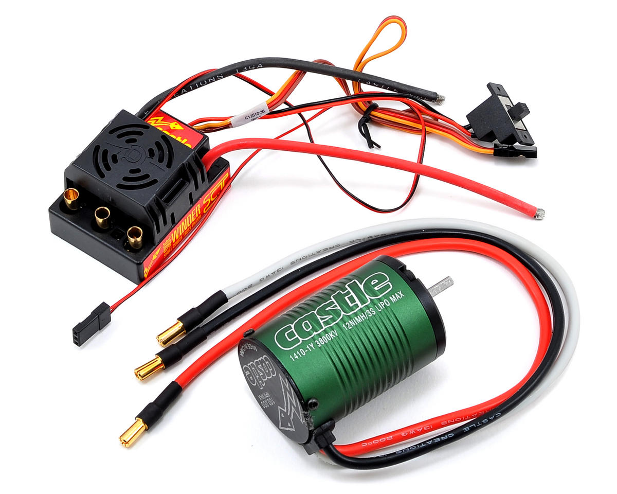 Castle Creations SV3 Sidewinder SCT 1/10 Brushless Short Course Combo (3800kV)