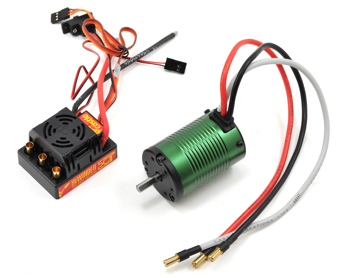 SV3 Sidewinder SC 1/10 Brushless Short Course Combo (3800kV) by Castle Creations