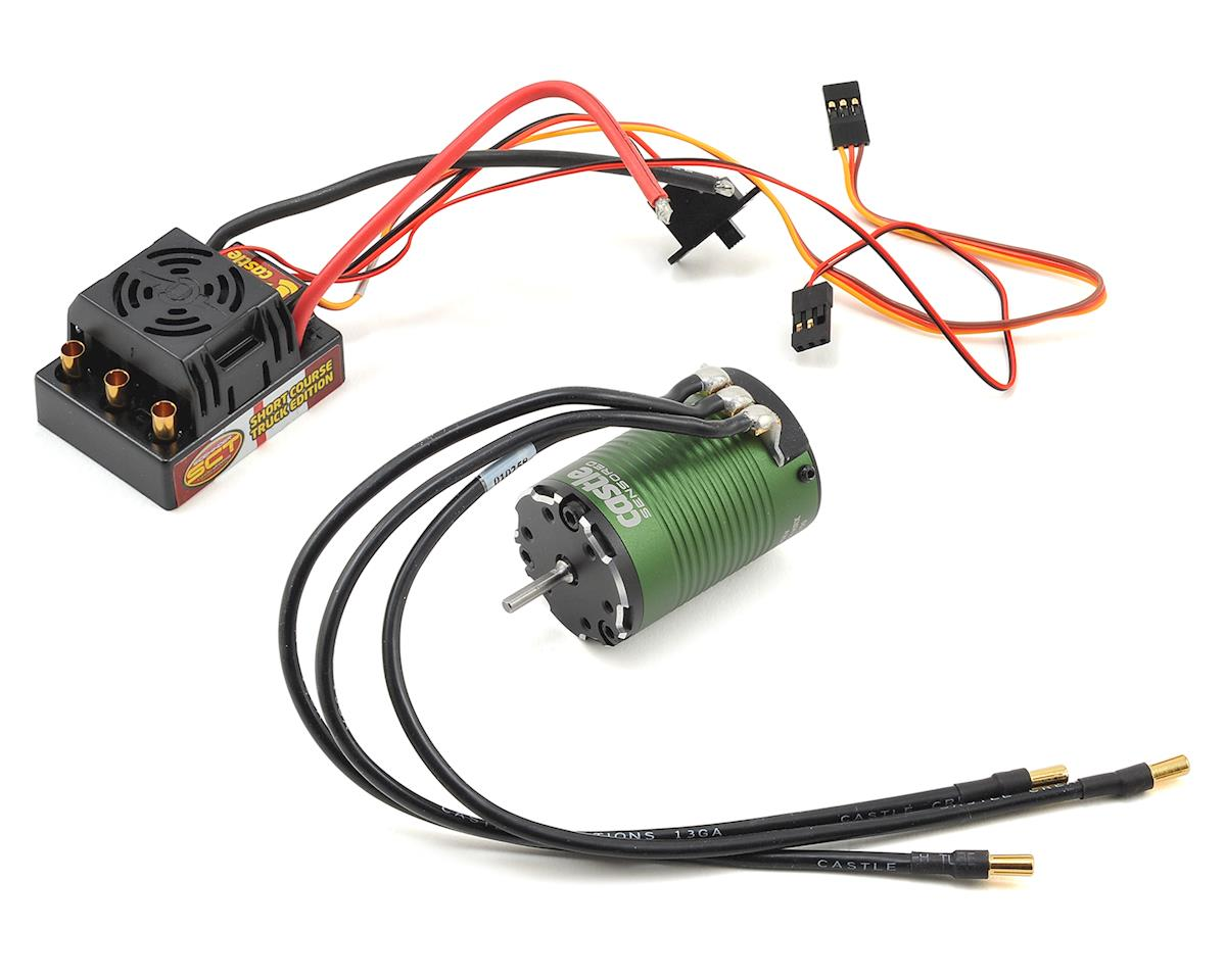 Sidewinder SCT Waterproof Combo w/Sensored 1410 Motor (3800Kv) by Castle Creations