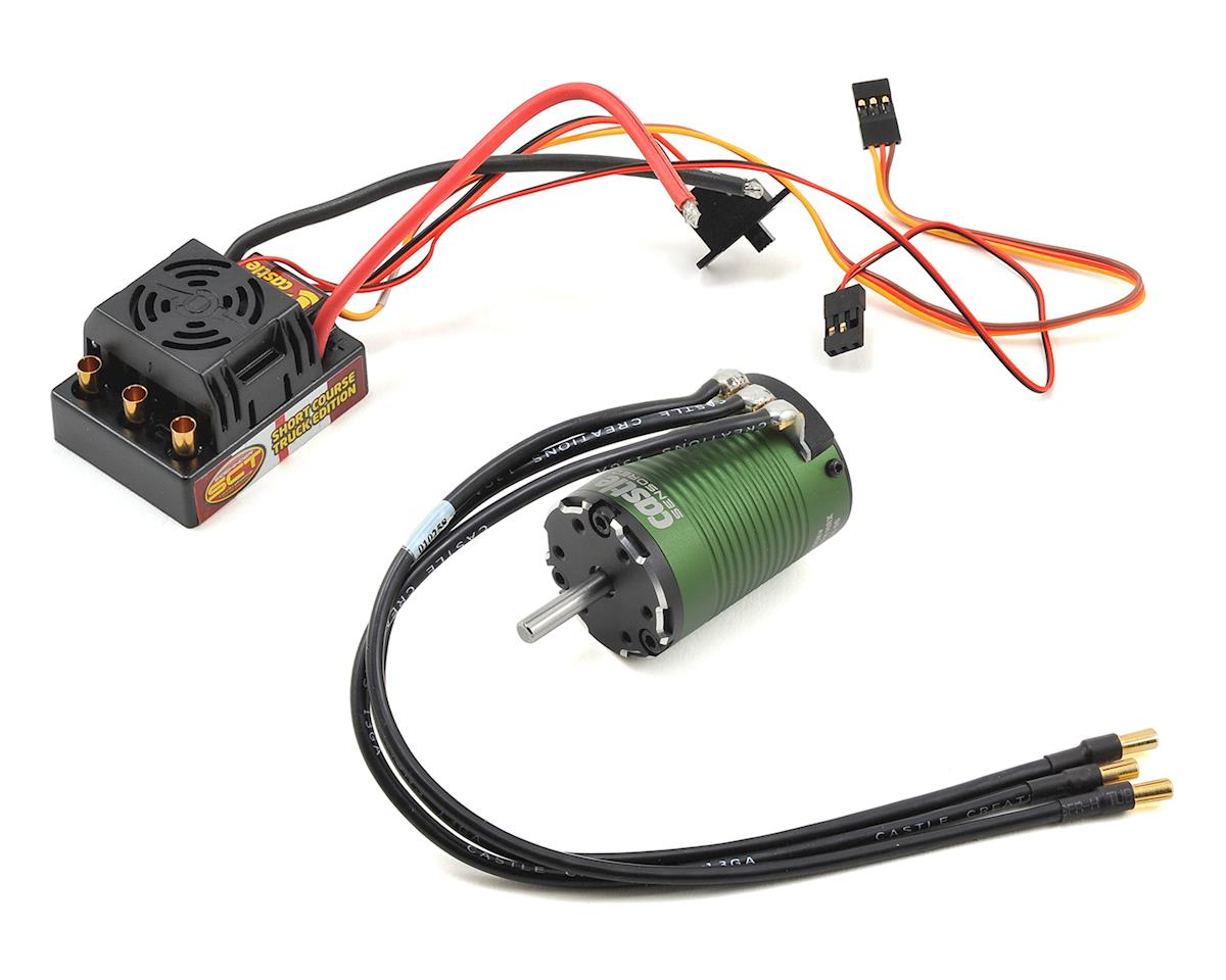 Sidewinder SCT WP ESC Combo w/Sensored 1410 Motor (3800kV) by Castle Creations