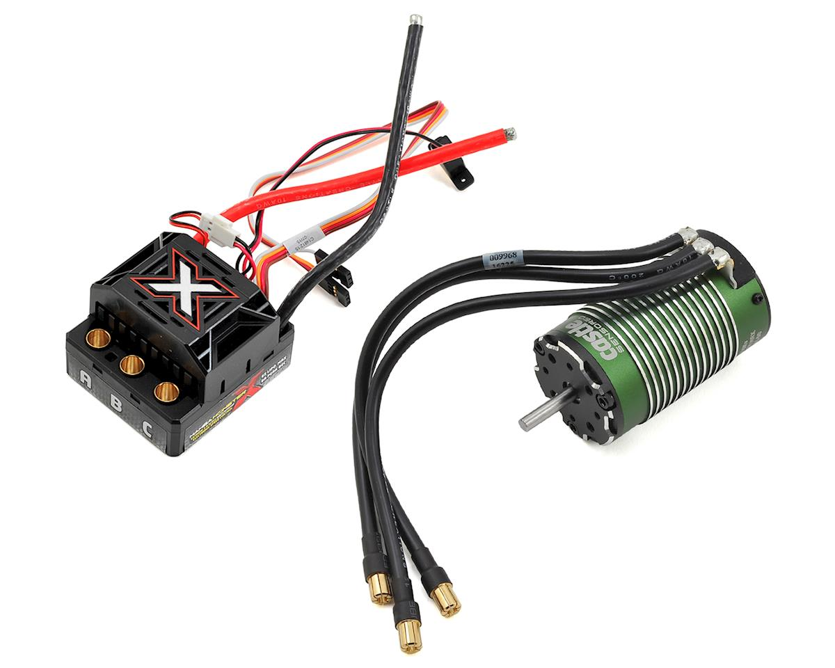 Monster X 1/8 Brushless ESC Combo w/1512 4-Pole Motor (1800Kv) by Castle Creations