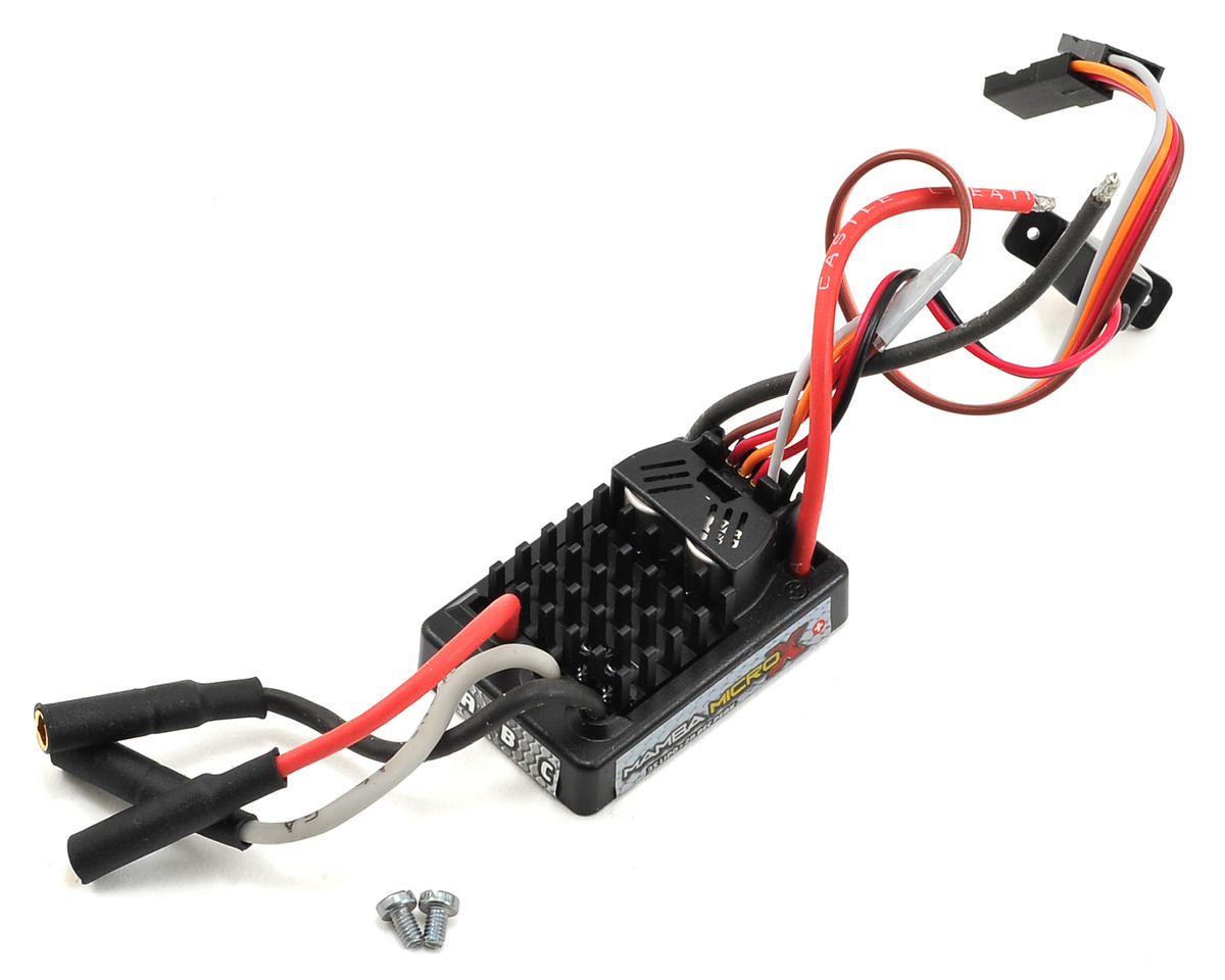 Castle Creations Mamba Micro X Waterproof 1/18th Scale Brushless ESC