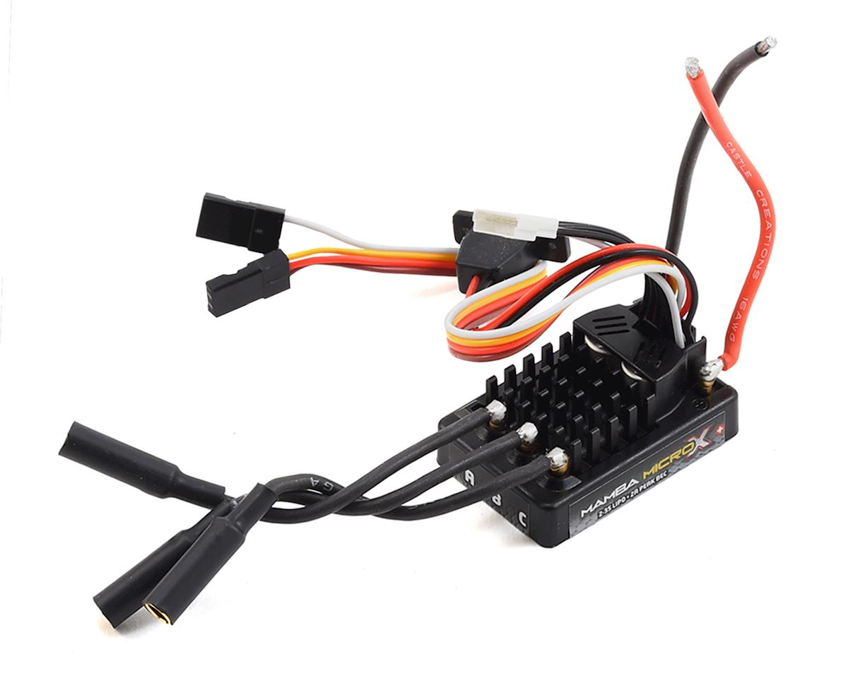 Mamba Micro X Crawler Waterproof Sensored Brushless ESC by Castle Creations