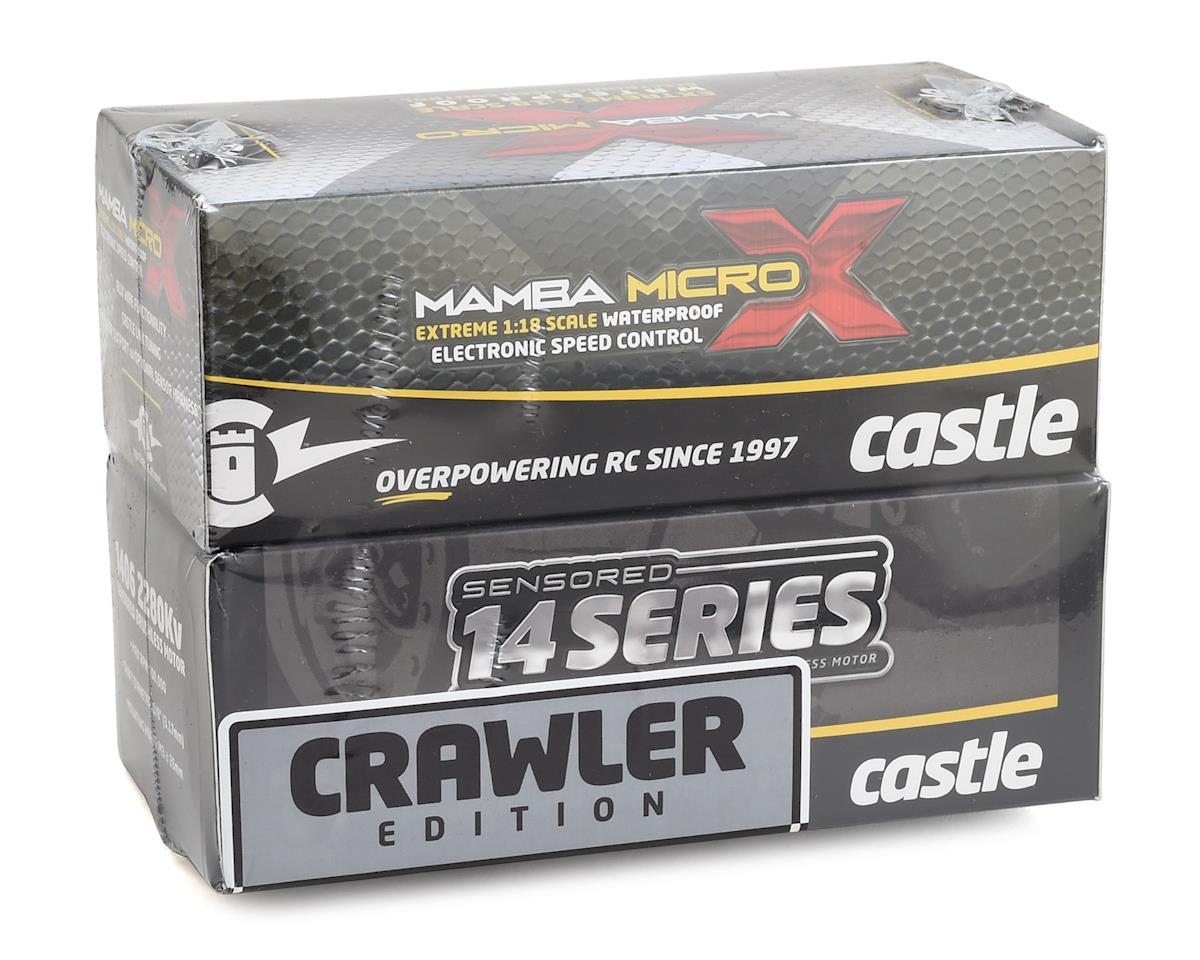 Castle Creations Mamba Micro X Crawler Waterproof Sensored Combo w/1900kV Slate