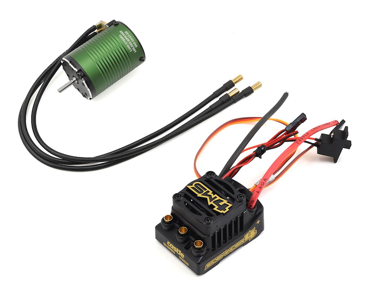 Sidewinder SV4 Waterproof 1/10 ESC/Motor Combo w/1406 (5700kV) by Castle Creations