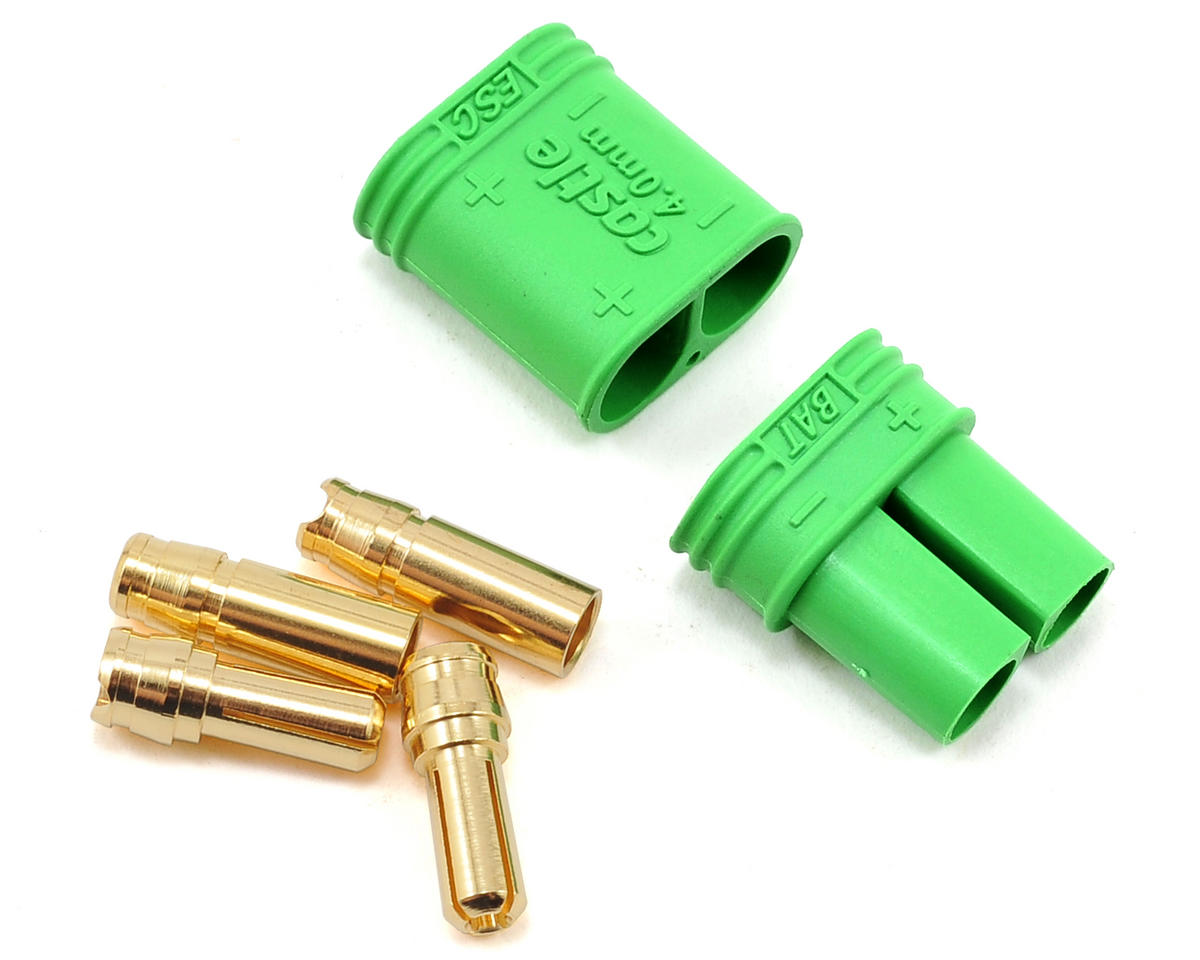4mm Polarized Bullet Connector Set (Male/Female) by Castle Creations