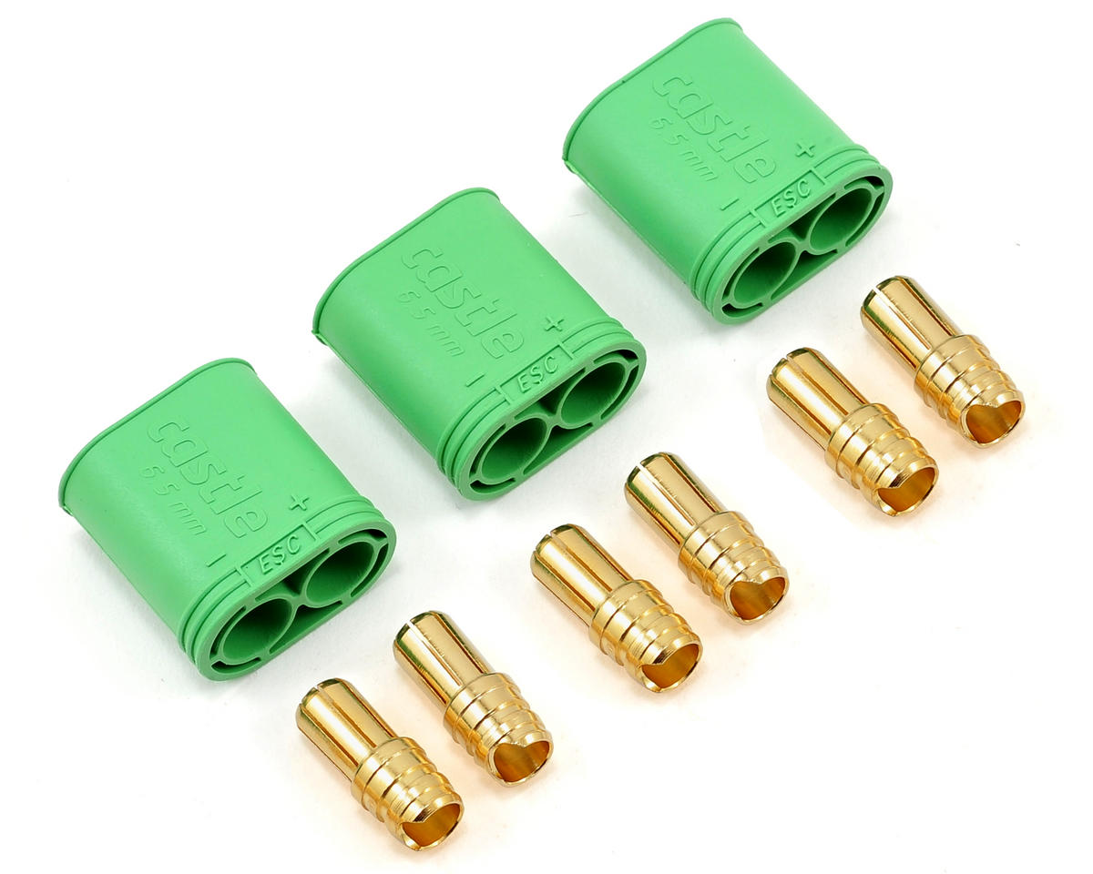 6.5mm Polarized Bullet Connector (3) (Male) by Castle Creations