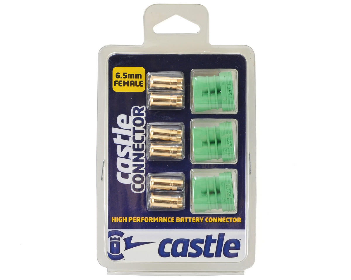 Castle Creations 6.5mm Polarized Bullet Connector (3) (Female)