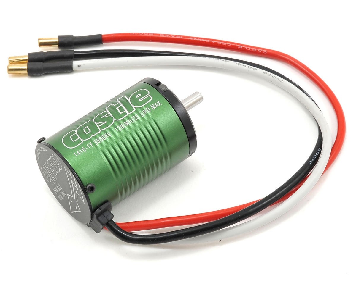 Castle Creations 1410-1Y 4-Pole Brushless Motor w/5mm Shaft (3800kV)