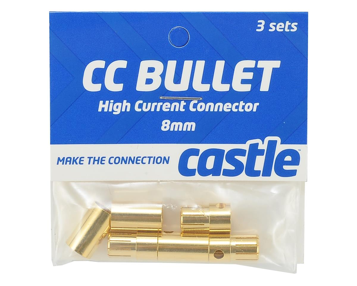 8.0mm High Current CC Bullet Connector Set by Castle Creations