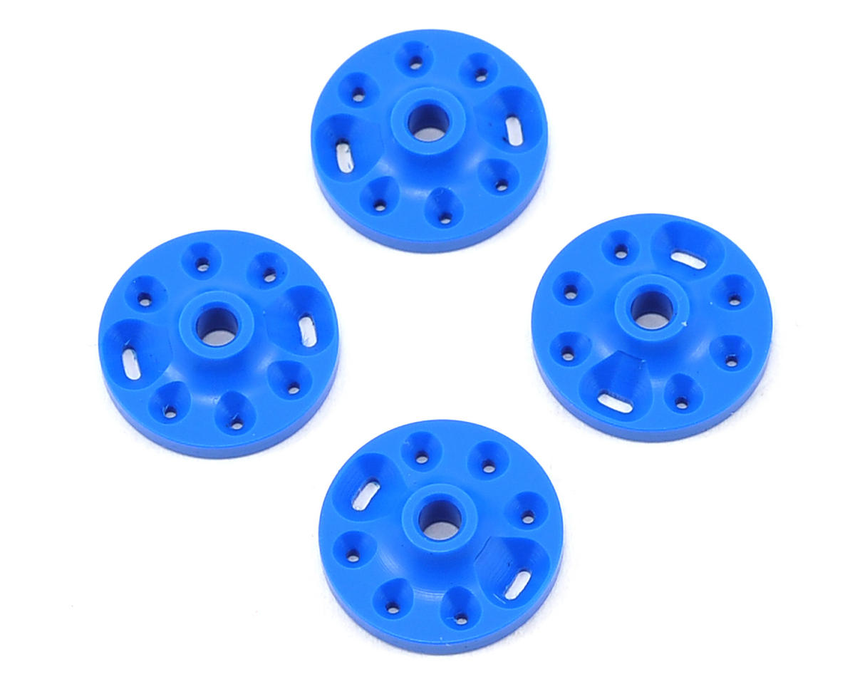 Competition Suspension Associated 16mm Squared V-Port Piston Set (Blue) (4) (Team SC8)
