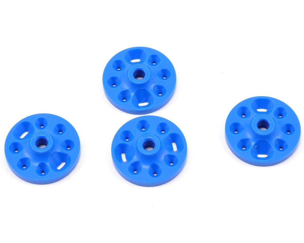 Competition Suspension Tekno Squared V-Port Piston Set (Blue) (4)