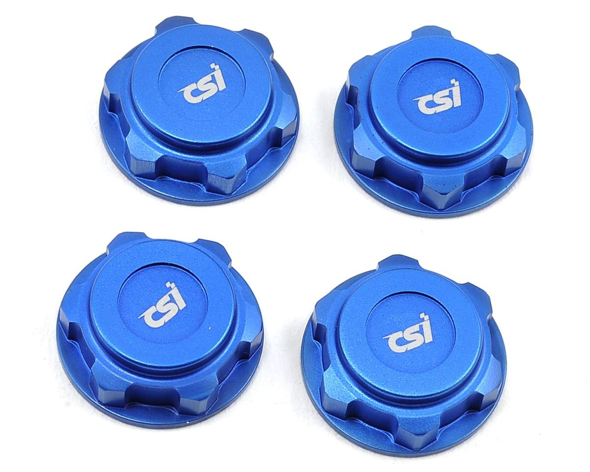 Competition Suspension XD 17mm Lightweight Aluminum Wheel Nuts (Blue) (4) (Hot Bodies Lightning Pro 2)