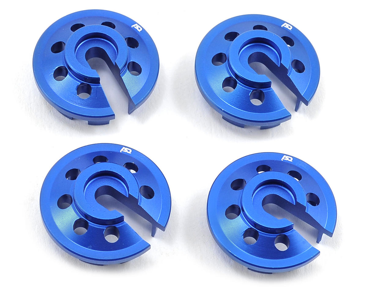 Kyosho Aluminum Shock Spring Cup Set (4) by Competition Suspension