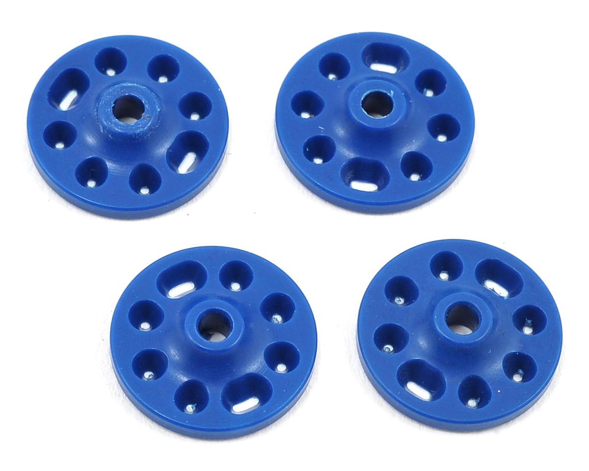 Competition Suspension Mugen MBX7R 16mm Squared V-Port Piston Set (Blue) (4)